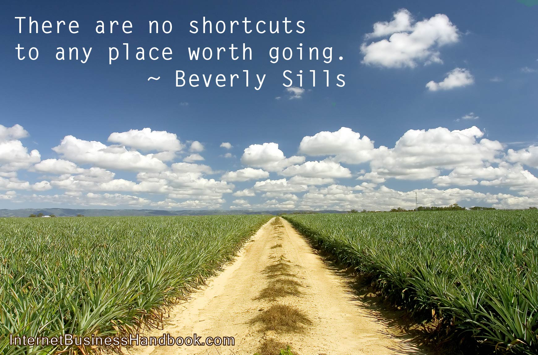 There are no shortcuts to any place worth going.  Beverly Sills.