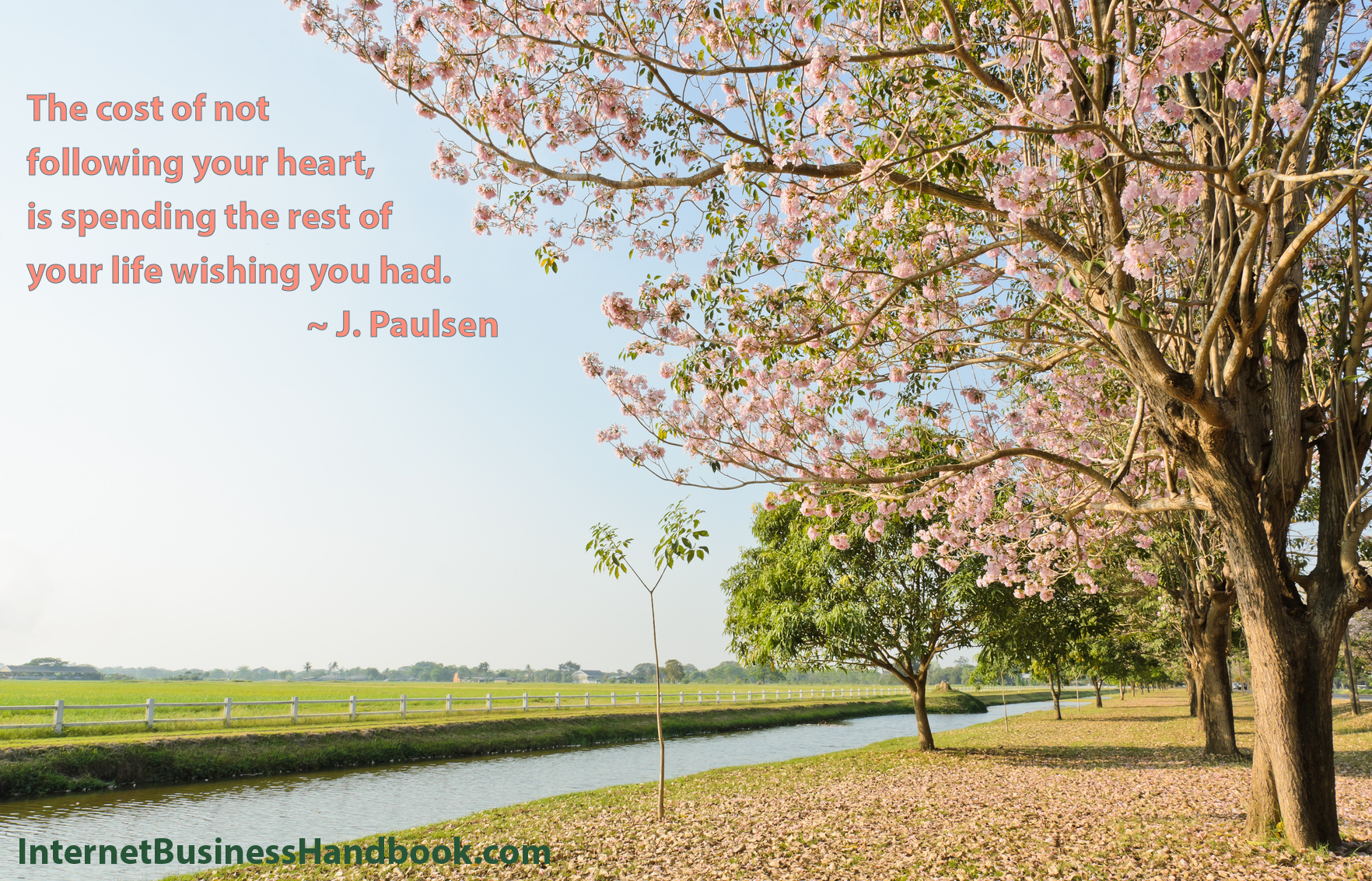 The cost of not following your heart, is spending the rest o your life wishing you had.  ~  J. Paulsen